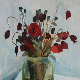 Poppies. Oil. by Vera Ambroise